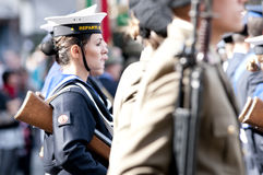 Italian military during a ceremony Stock Photos