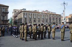 Italian military during a ceremony. Of the Italian armed forces Royalty Free Stock Images