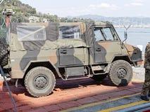 Italian military humvee. Detail of italian military humvee stock photo