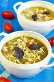 Italian minestrone soup Stock Image