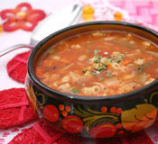 Italian minestrone soup Royalty Free Stock Photos