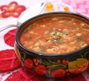 Italian minestrone soup Royalty Free Stock Photos