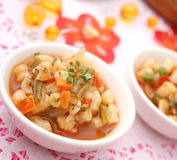 Italian minestrone soup Stock Images