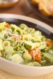 Italian Minestrone Soup Stock Photo