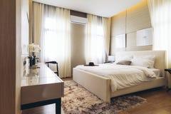 Italian Modern Model House : Bedroom royalty free stock image