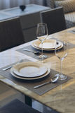 Italian Modern Model House : Dinning Area Detail Royalty Free Stock Image