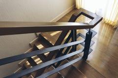 Italian Modern Model House : Stair Rail Detail Stock Photos