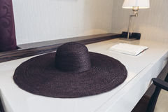 Italian Modern Model House : Weaving Hat on Table in Working Area Stock Images