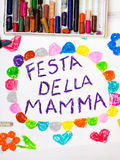 Italian Mother`s Day card with words `Mother`s day` Stock Photo