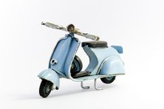 Italian motorcycle. Famous , toy version Royalty Free Stock Photography