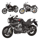 Italian Motorcycles. 3 Italian design Motorcycles models Stock Images