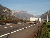 Italian motorway A22 Stock Photo
