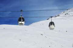 Italian Mountain ski resort in winter Stock Image