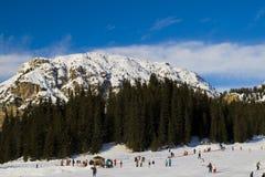 Italian Mountain Snow Background Royalty Free Stock Photography