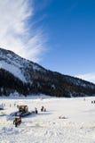 Italian Mountain Snow Background Royalty Free Stock Photos