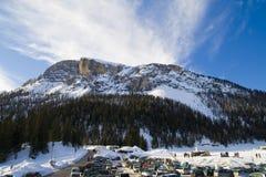 Italian Mountain Snow Background Royalty Free Stock Image