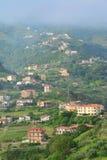 Italian mountain village. A photo of a village  in a mountain in italy Royalty Free Stock Photos