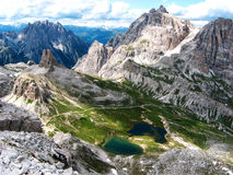 Italian mountains - 3. View from top of the mountain Royalty Free Stock Images