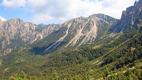 Italian mountains called Venetian Prealps in the pr. Ovince of Vicenza in Italy Stock Image