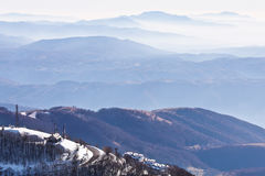 Italian mountains covered in snow Royalty Free Stock Photography