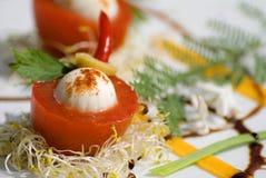 Italian mozarella party snack Stock Image