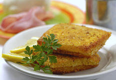 Italian mozzarella in carrozza Royalty Free Stock Photo