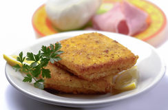 Italian mozzarella in carrozza Stock Images