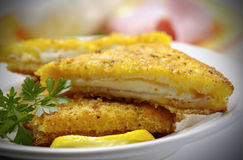 Italian mozzarella in carrozza Royalty Free Stock Photos