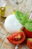 Italian mozzarella cheese with tomato Stock Image