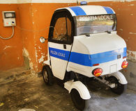 Italian municipality police car Royalty Free Stock Photo