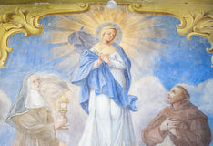 Italian mural of the Virgin Mary. Royalty Free Stock Image
