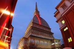 Italian museum tower at night Stock Photos