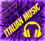 Italian Music Indicates Sound Track And Audio Royalty Free Stock Photography