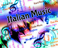 Italian Music Means Sound Track And Harmonies Royalty Free Stock Image