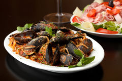 Italian Mussels Dish Royalty Free Stock Photography