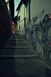 Italian narrow alley, Pavia. Royalty Free Stock Photography