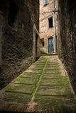 Italian narrow alley. Royalty Free Stock Photography