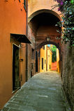 Italian Narrow colorful street Stock Photography