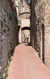 Italian narrow street Royalty Free Stock Photo