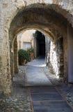Italian narrow street stock photos