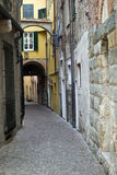 Italian narrow street Stock Photo