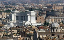 Italian national monument to Vittorio Emanuele II in Rome in pia Royalty Free Stock Image