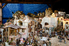 Italian nativity scene royalty free stock image