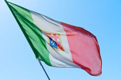 Italian Nautical Flag Royalty Free Stock Image