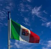 Italian navy flag Royalty Free Stock Images