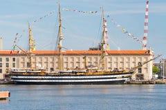 Italian Navy Ship, Amerigo Vespucci Stock Photo