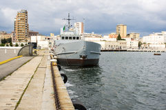 Italian navy ship Stock Photography