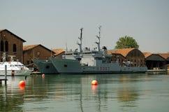 Italian Navy ships, Venice Royalty Free Stock Image