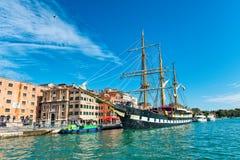 Italian navy training ship Palinuro in Venice Stock Photography