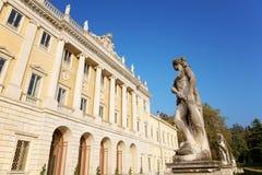 Italian neoclassic villa. The facade of a italian neoclassic villa, Como, Italy Royalty Free Stock Photos